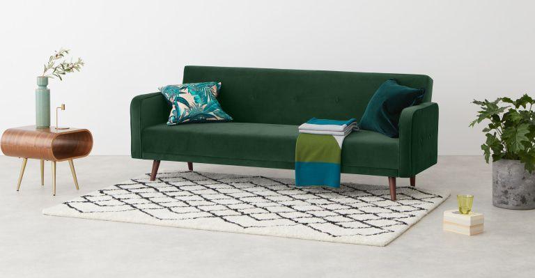 Chou Schlafsofa Samt In Kieferngrun Bettsofa Sofa Design Und