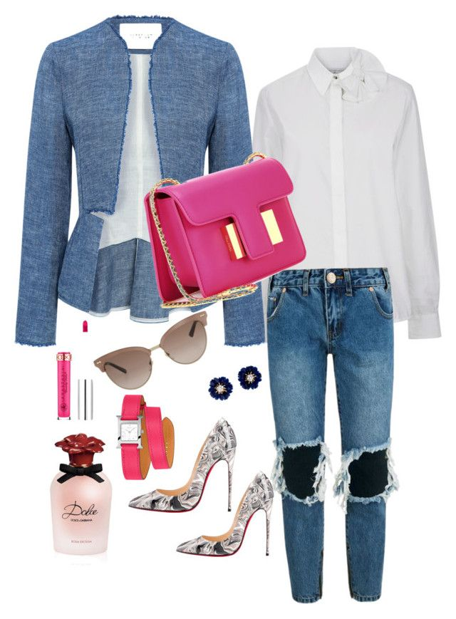 """Pink Pout"" by styledbytammy ❤ liked on Polyvore featuring Victoria, Victoria Beckham, 10 Crosby Derek Lam, One Teaspoon, Christian Louboutin, Tom Ford, Anastasia Beverly Hills, Hermès, Dolce&Gabbana and Gucci"