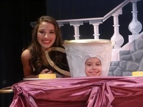 I'm chip in the beauty and the beast play
