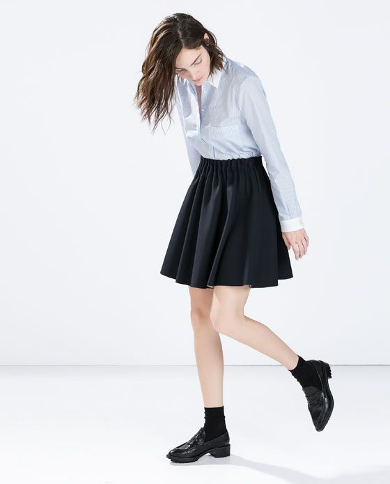 Image 2 of SKIRT WITH ELASTIC WAIST from Zara