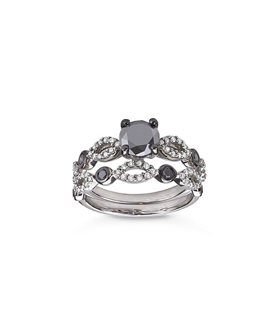 Look at this zulilyfind sterling silver u black diamond link ring