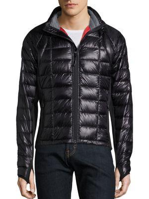 Canada Goose Hybridge Lite Quilted Down Jacket In Black Modesens Packable Jacket Men Packable Jacket Mens Jackets