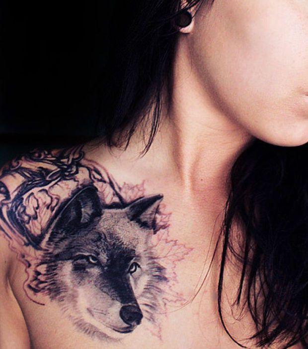 20 Tatouages Loup Pour Femme Tatouage Pinterest Tatting