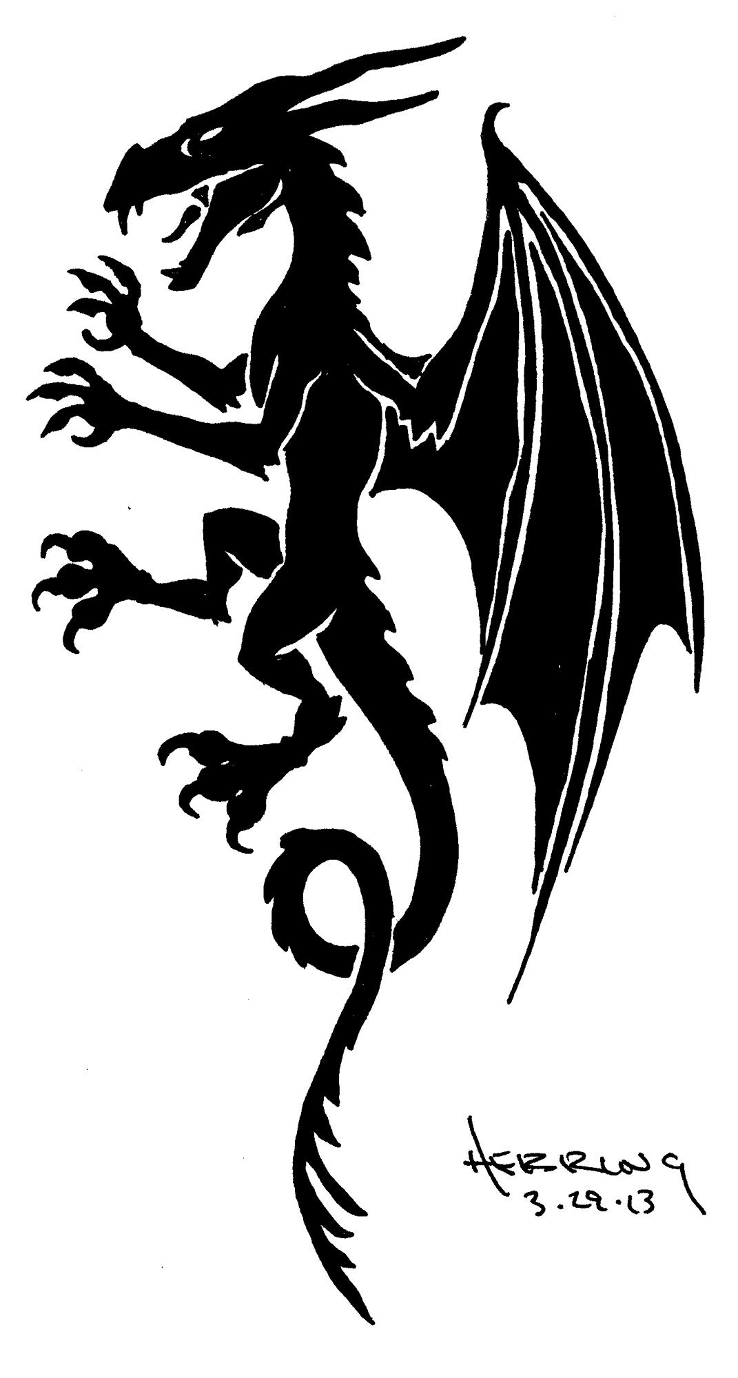 Dragon Heraldry: Tribal Tattoos, Heraldry, Tribal