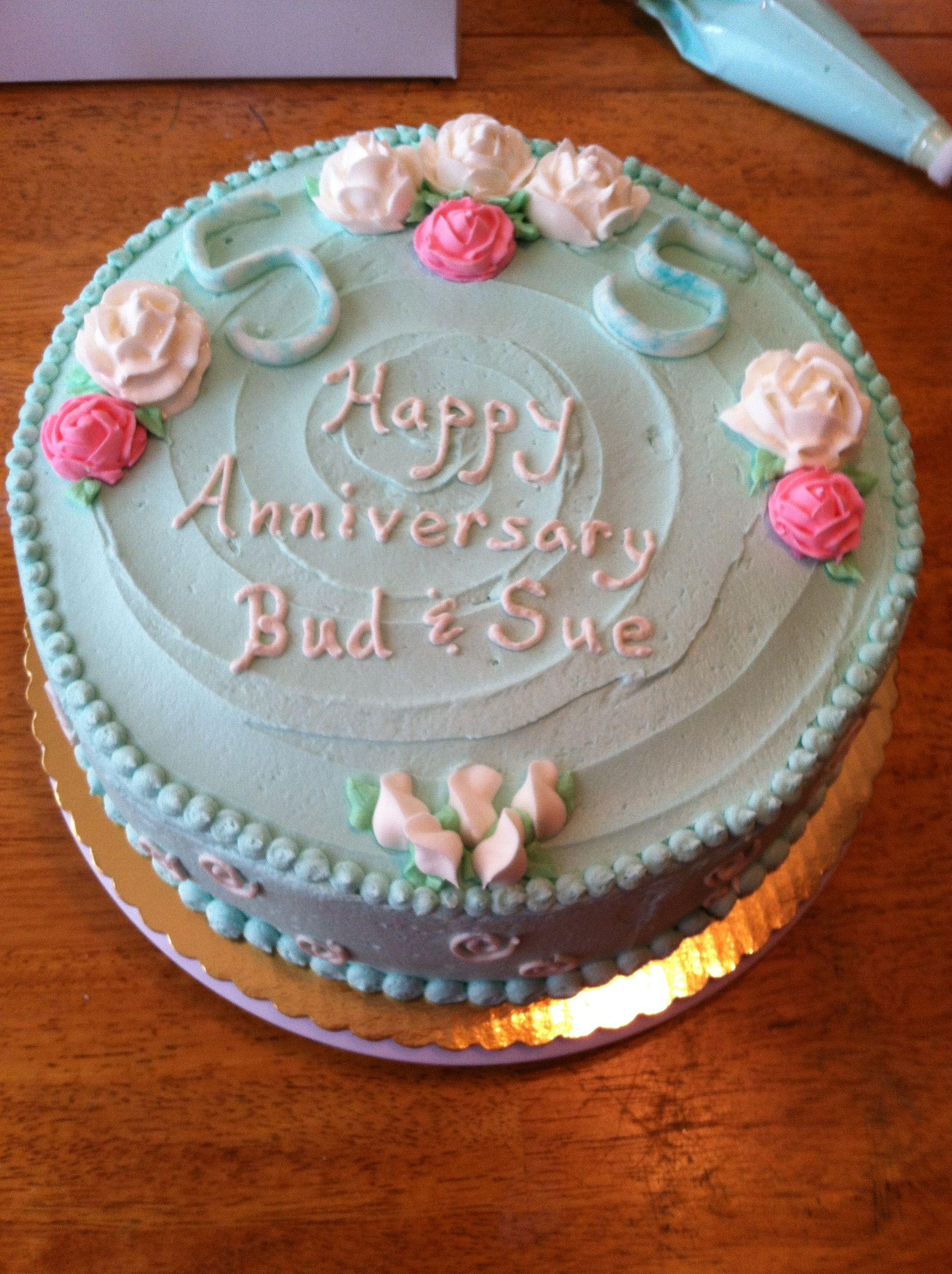 55th Wedding Anniversary Cake 6 22 13 Chocolate Cake With