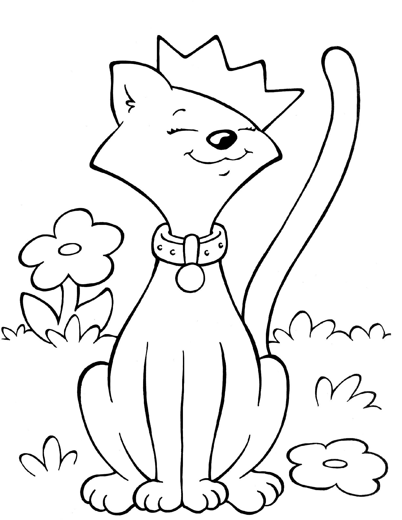 Cat Activities for Kids   Crayola coloring pages, Easy ...