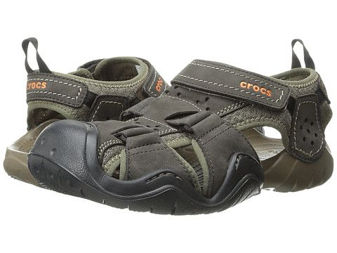 881804c3802dd Crocs Swiftwater Leather Fisherman | Wish List | Crocs, Sandals, Leather