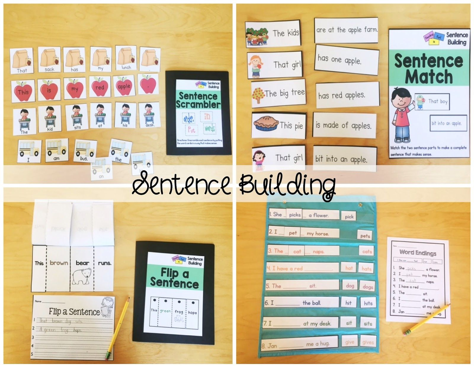 September Literacy Centers for First Grade Literacy