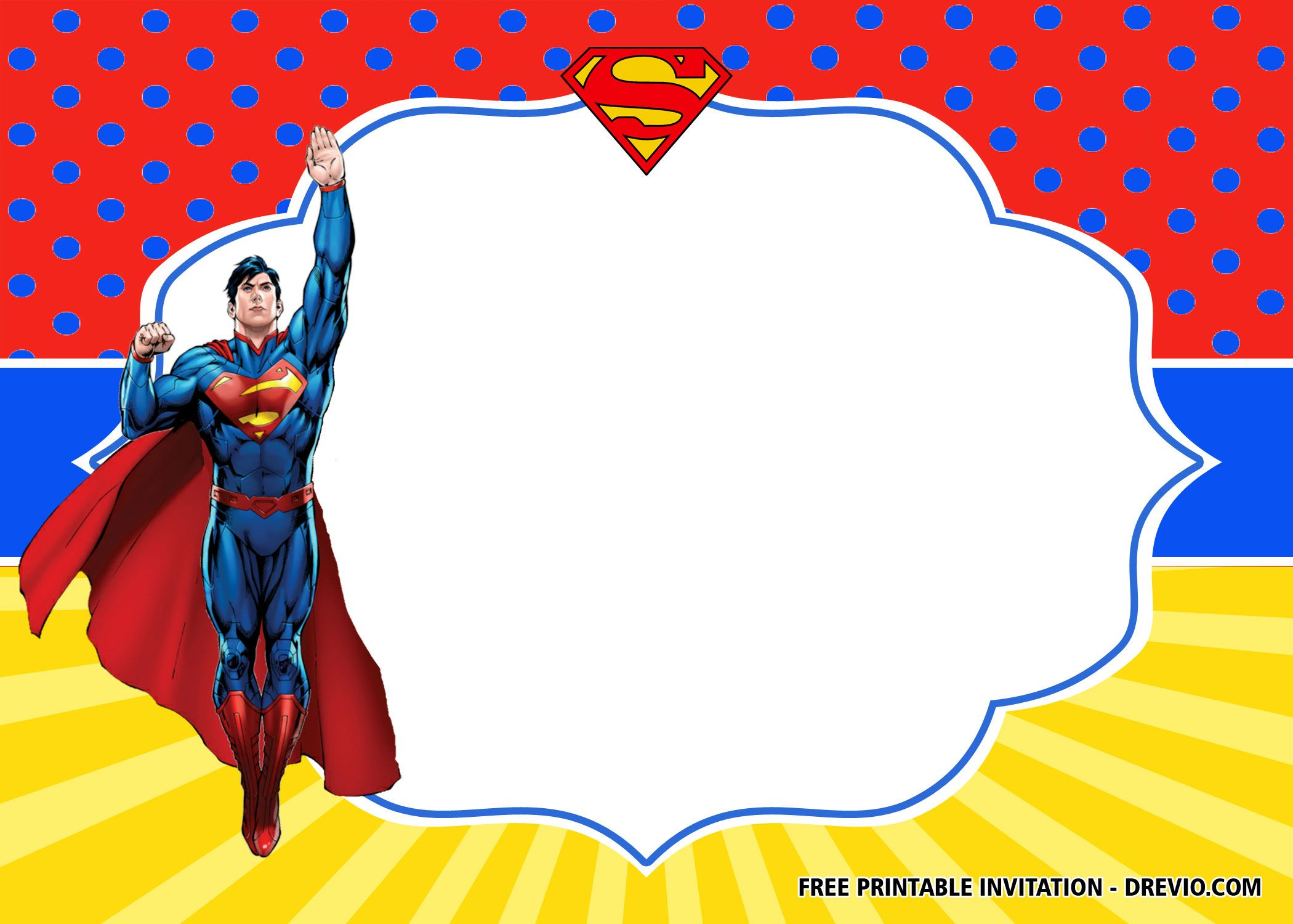 free superhero superman birthday
