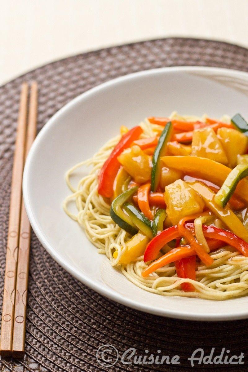 Wok De Légumes Sauce Aigre Douce Au Ketchup Recette Cuisine