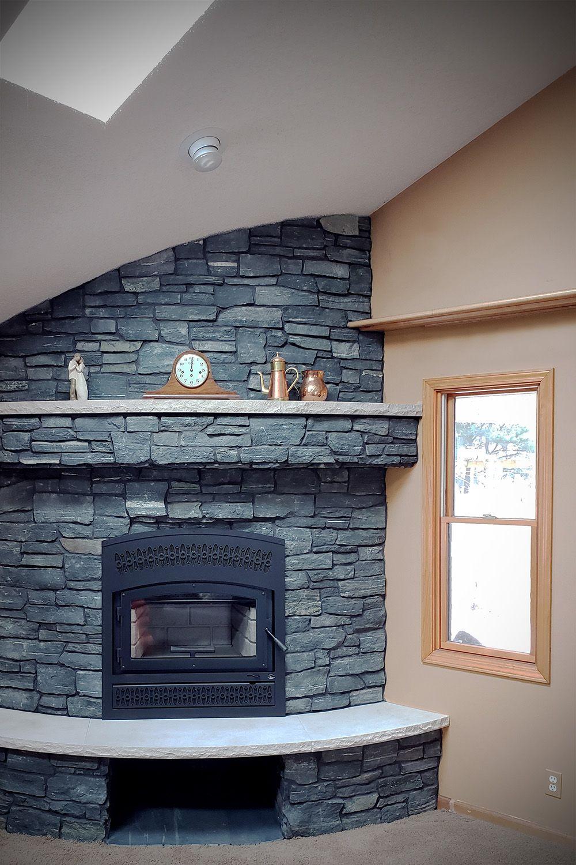Black Frost Ashlar Veneer Stone Fireplace Stone Veneer Natural