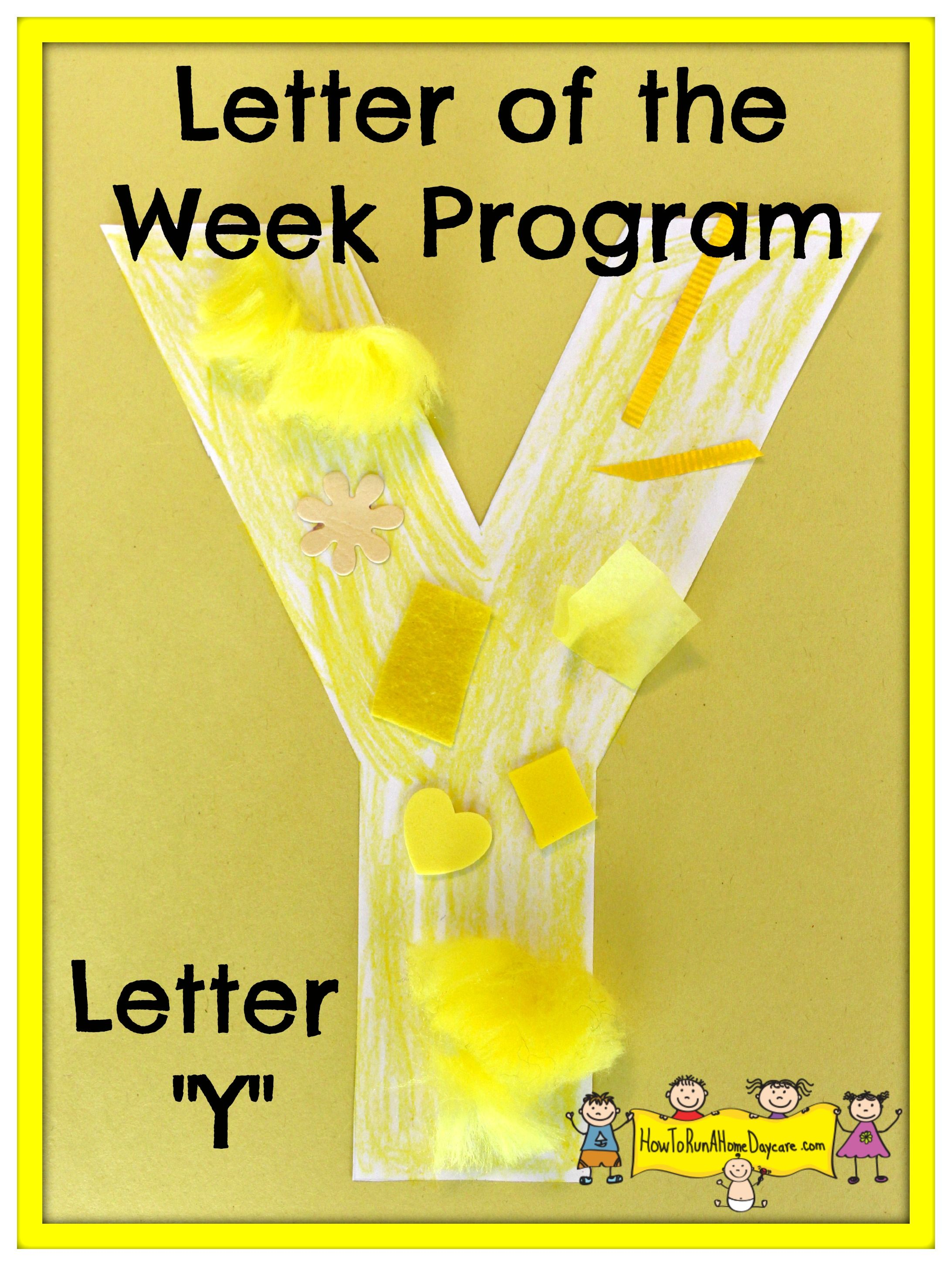 Letter Y Letter Of The Week