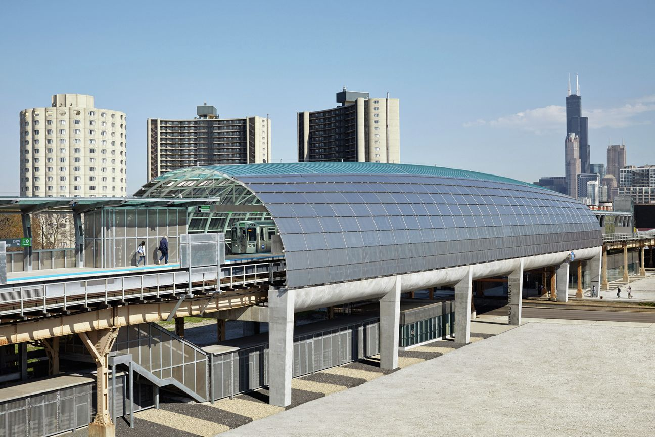 Gallery - Cermak McCormick Place Station / Ross Barney Architects - 4