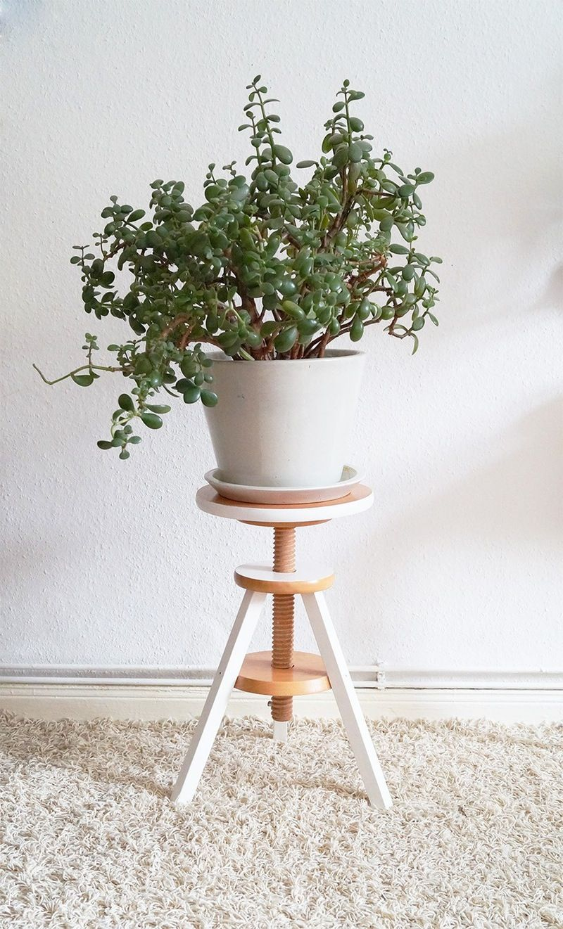 Nur Noch Piano Stool Plant Stand Indoor Modern Plant Stand Diy