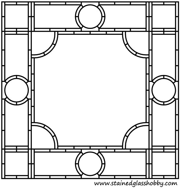 Free Stained Glass Frame Border Pattern Doodle Templates Stained