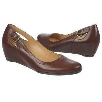 690cbc2de21c Women s Naturalizer Naja Wedge Brown Leather Shoes.com