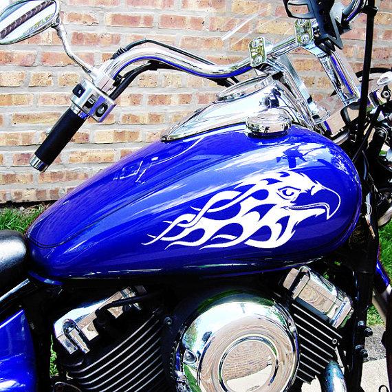 2 x Flame Bike Tank Motorcycle MotorBike Decal Sticker Vinyl Graphics 27