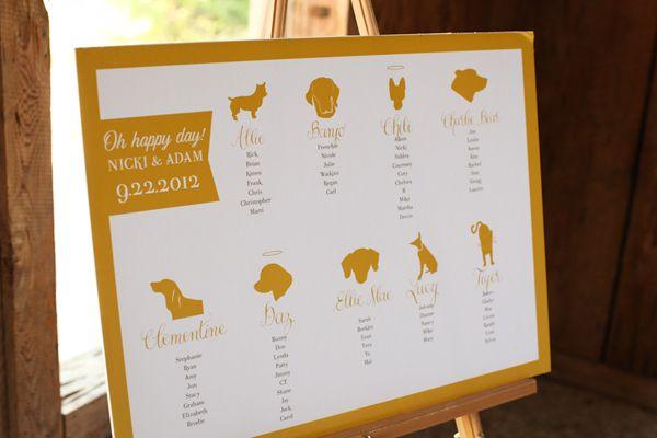 Unexpected + pet-themed wedding seating chart idea Wedding - wedding chart