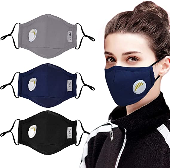 Cotton Face Mask Dust Anti Pollution Activated Carbon Filter Insert Mouth Air