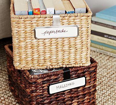 1e3003130cff Clip On Basket Labels #potterybarn | new bedroom | Basket labels ...