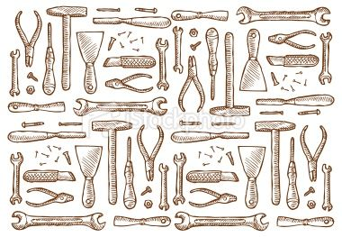 Carpentry Tools In Vintage Style In 2019 Books And Packaging