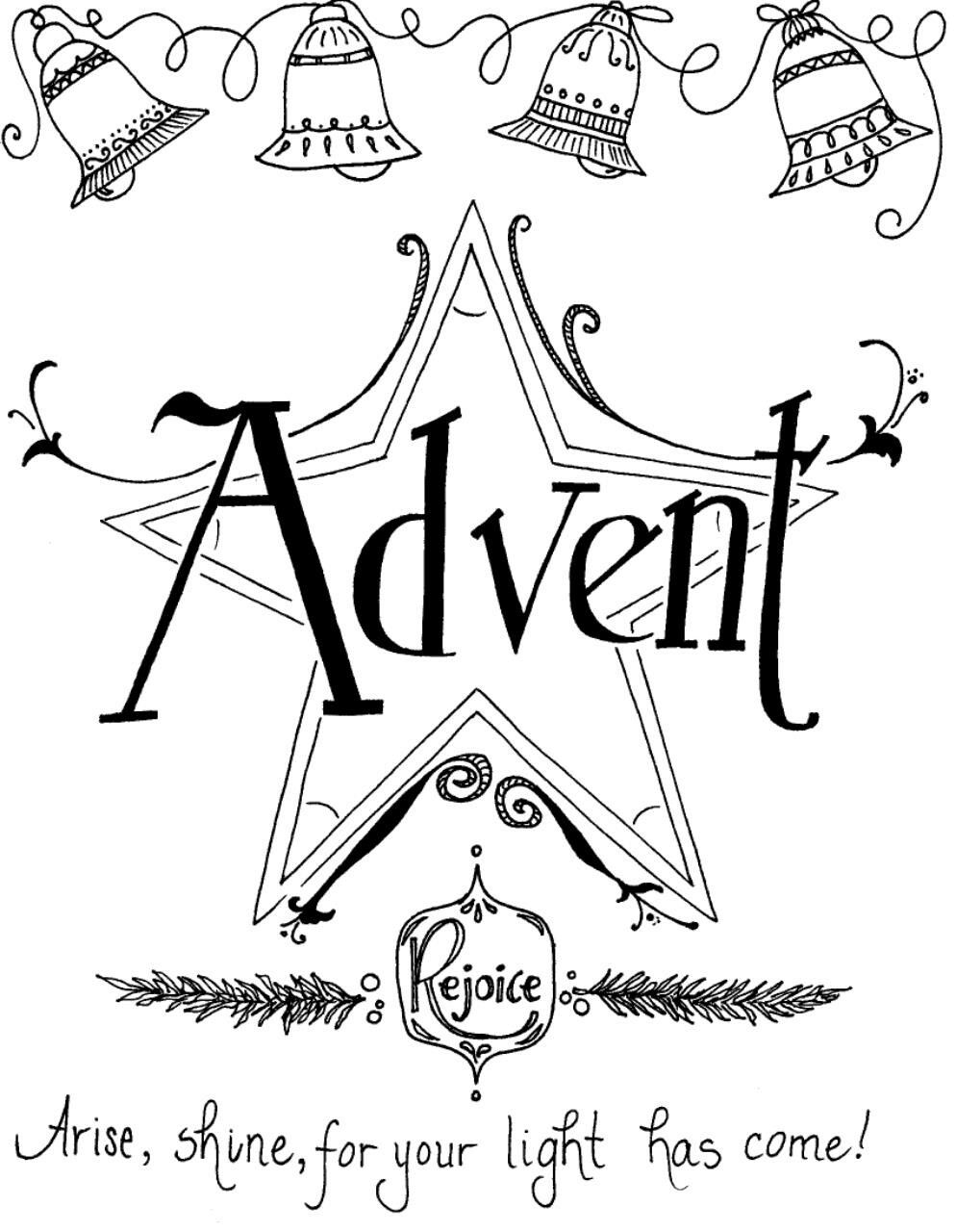 advent coloring page - Advent Coloring Pages