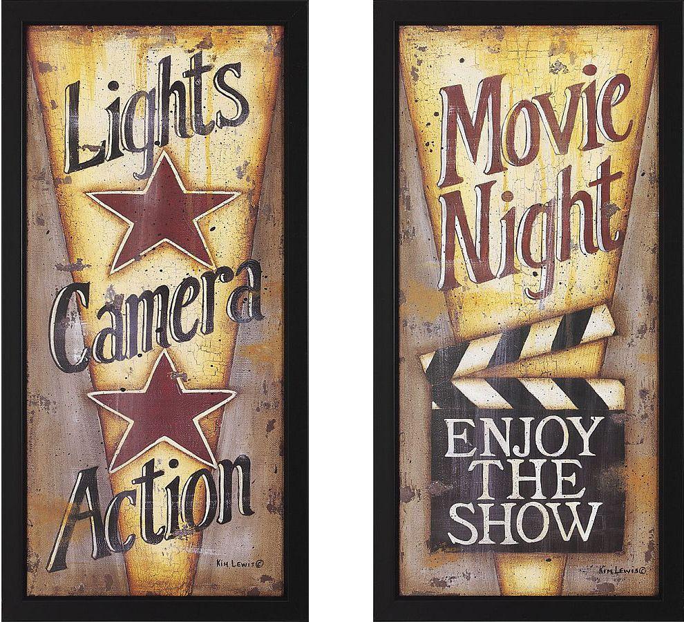 Movie Themed Living Room Movie Night Decorating Ideas Lights Camera Action And Movie