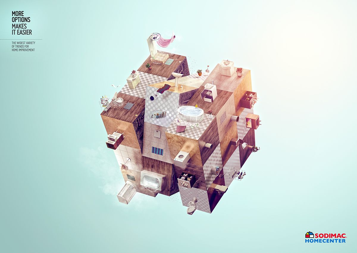 Sodimac Home Center Rubik Cube On Behance Creative Advertising Creative Healthcare Ads
