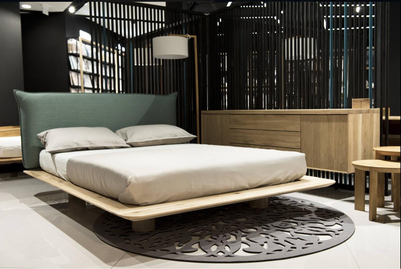 Nuvola Bett Design Modern Aus Massivholz Mit Polsterkopfteil Bed