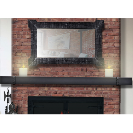 Denali Steel Fireplace Mantel Shelf In Matte Black