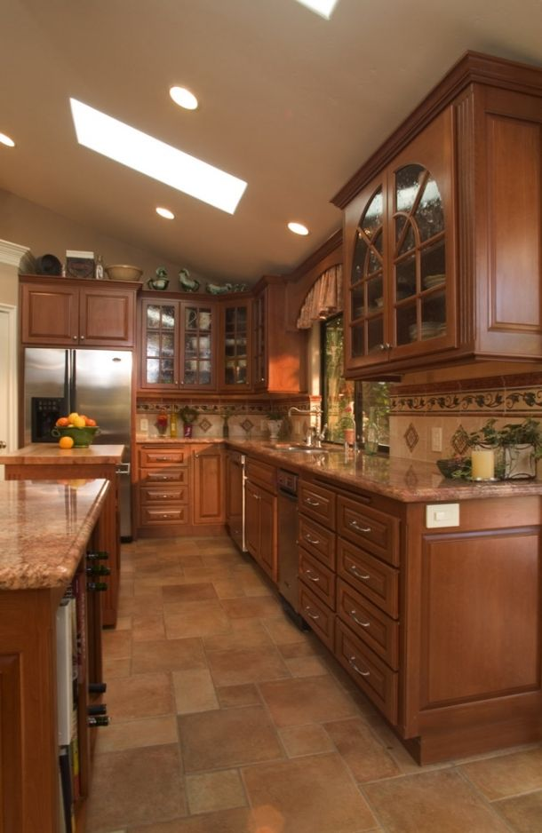 Cherry Kitchen 3 Photo (With images) | Maple cabinets ...