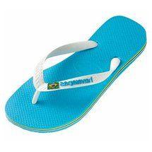 63c0c160f9bf Mens Havaianas Brasil logo flip flops (Turquoise)
