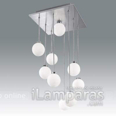 Opla lampara colgante blanco ruled 9 luces (2885-40-258) - Fabas