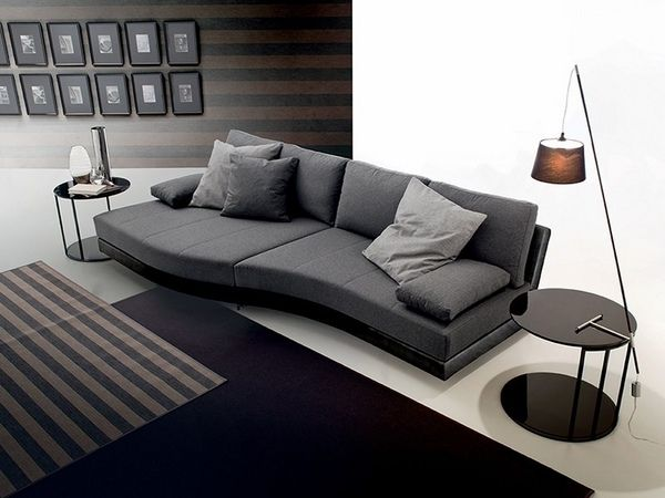 Wondrous Modern Gray Sofa Black Carpet White Flooring Side Tables Ocoug Best Dining Table And Chair Ideas Images Ocougorg