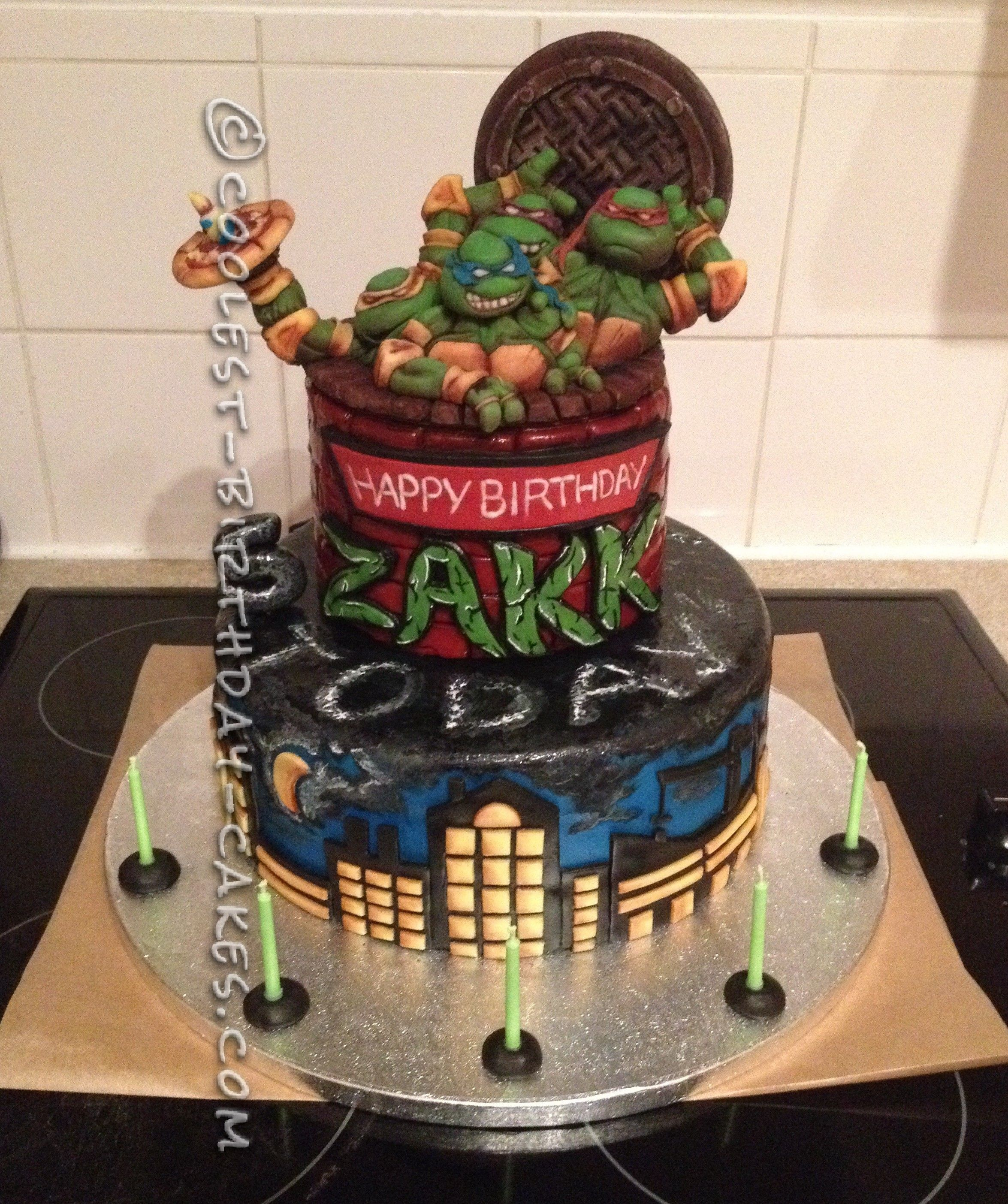 Amazing Teenage Mutant Ninja Turtles Birthday Cake Turtle birthday
