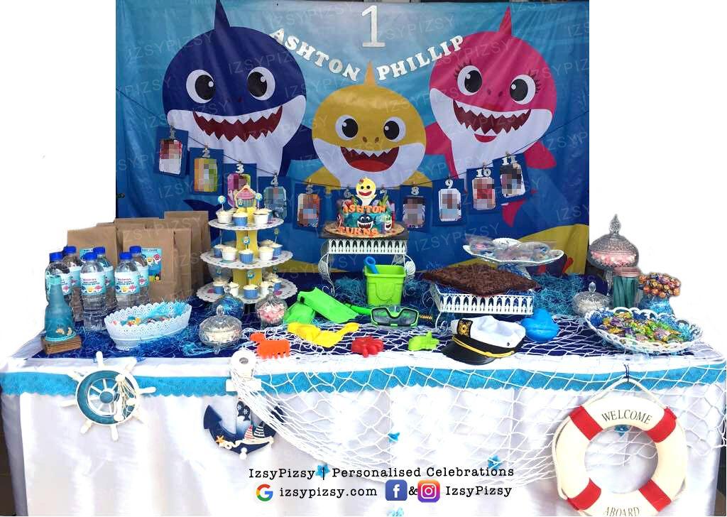 Baby Shark Under The Sea Birthday Party Decoration Props Shark Party Decorations Sea Birthday Party Sea Birthday Party Decorations