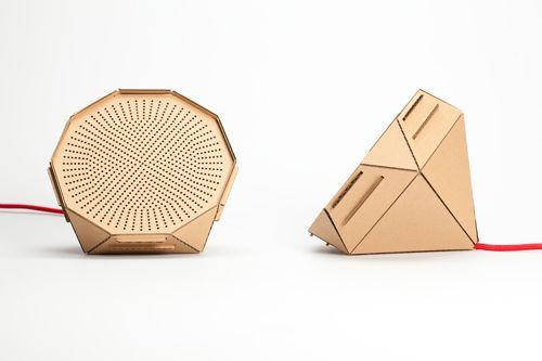 nice cardboard speaker concept by philipp schenk mischke products pinterest spielideen. Black Bedroom Furniture Sets. Home Design Ideas