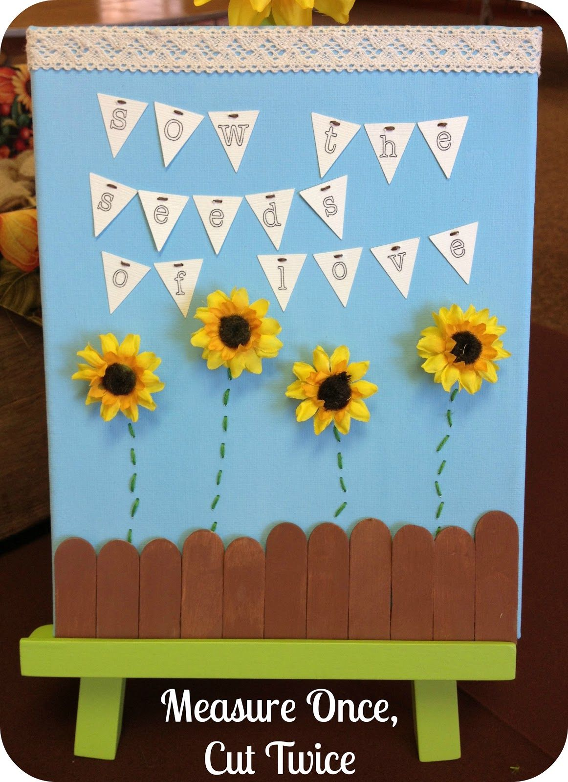 Google themes twice - Measure Once Cut Twice Sunflower Theme Sow The Seeds Of