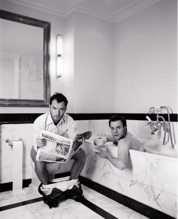 Ewan McGregor and Jude Law by Lorenzo Agius