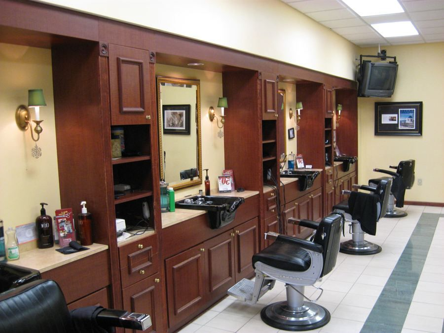 Interior Barber Shop Design Ideas Hair Salon Floor Plans ...