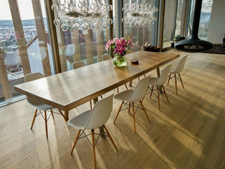 Der Massivholztisch Das Muss In Jedem Haus Jedem Massivholztisch Table A Manger Longue Table A Manger En Bois Salle A Manger Bois