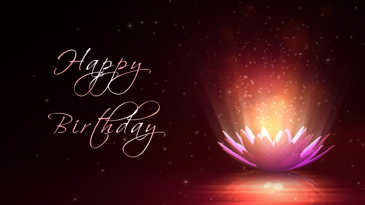 Happy Birthday Motion Graphics Background Lotus Flower