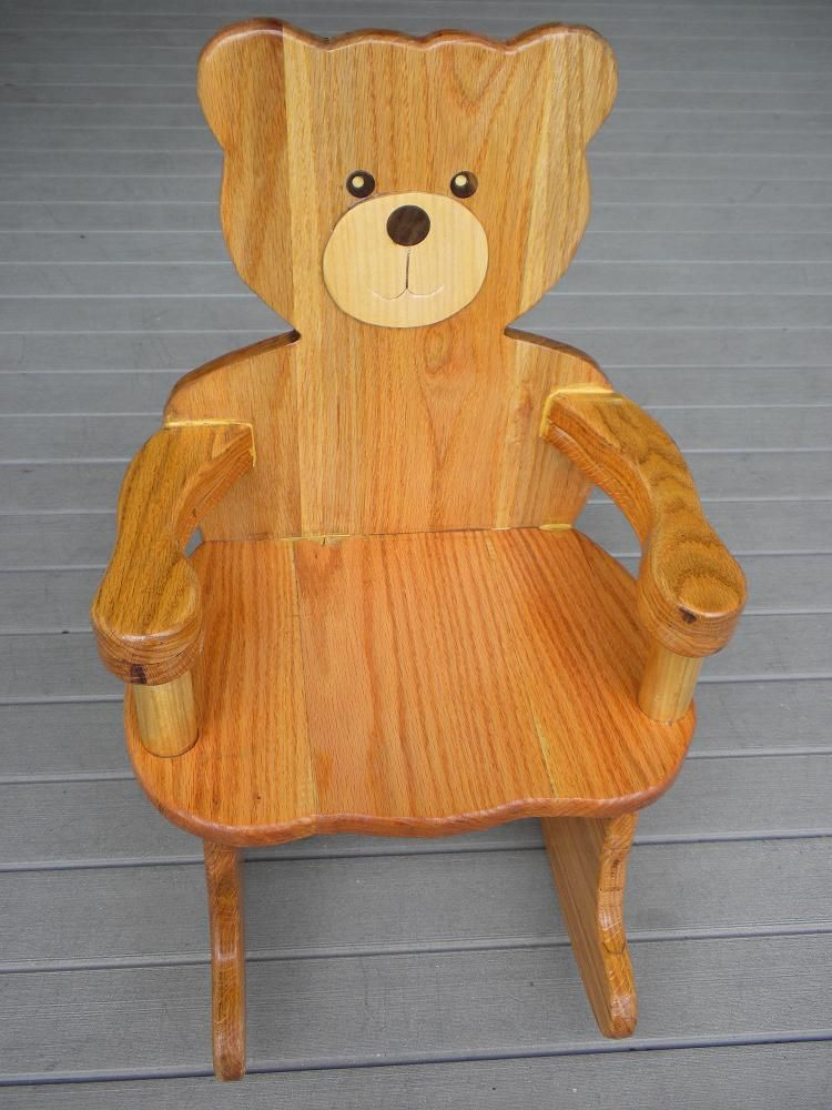 plans for teddy bear rocking chair plan rated 4 stars do it yourself pinterest rocking. Black Bedroom Furniture Sets. Home Design Ideas