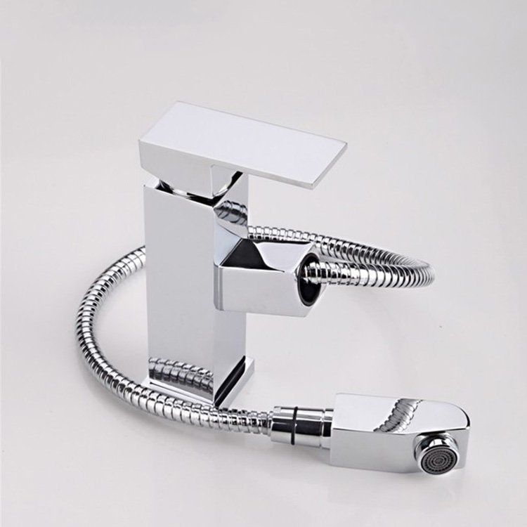 bathroom sink faucet pull out basin faucet with hand shower pull out ...