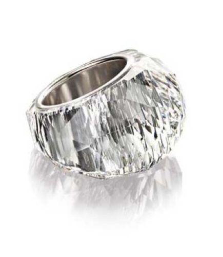 856da926016ba Details about Swarovski Clear Crystal Guardian Ring Rhodium Plated ...