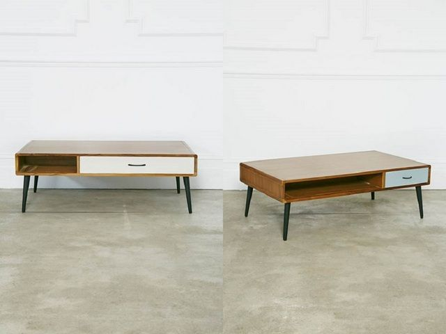 Marvelous Looks Like It Might Be Easy To DIY This Mid Century Coffee Table