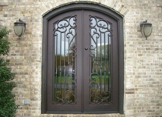 High Quality Rustic Style Portella Steel Entry Doors With Glass. Ideas
