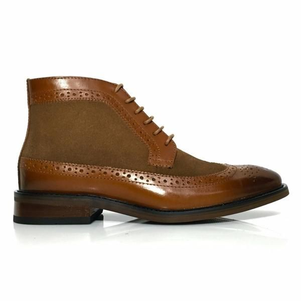 New Men/'s Formal Leather Dress Casual Brogues Wingtip Lace Up Ankle Boots Sz