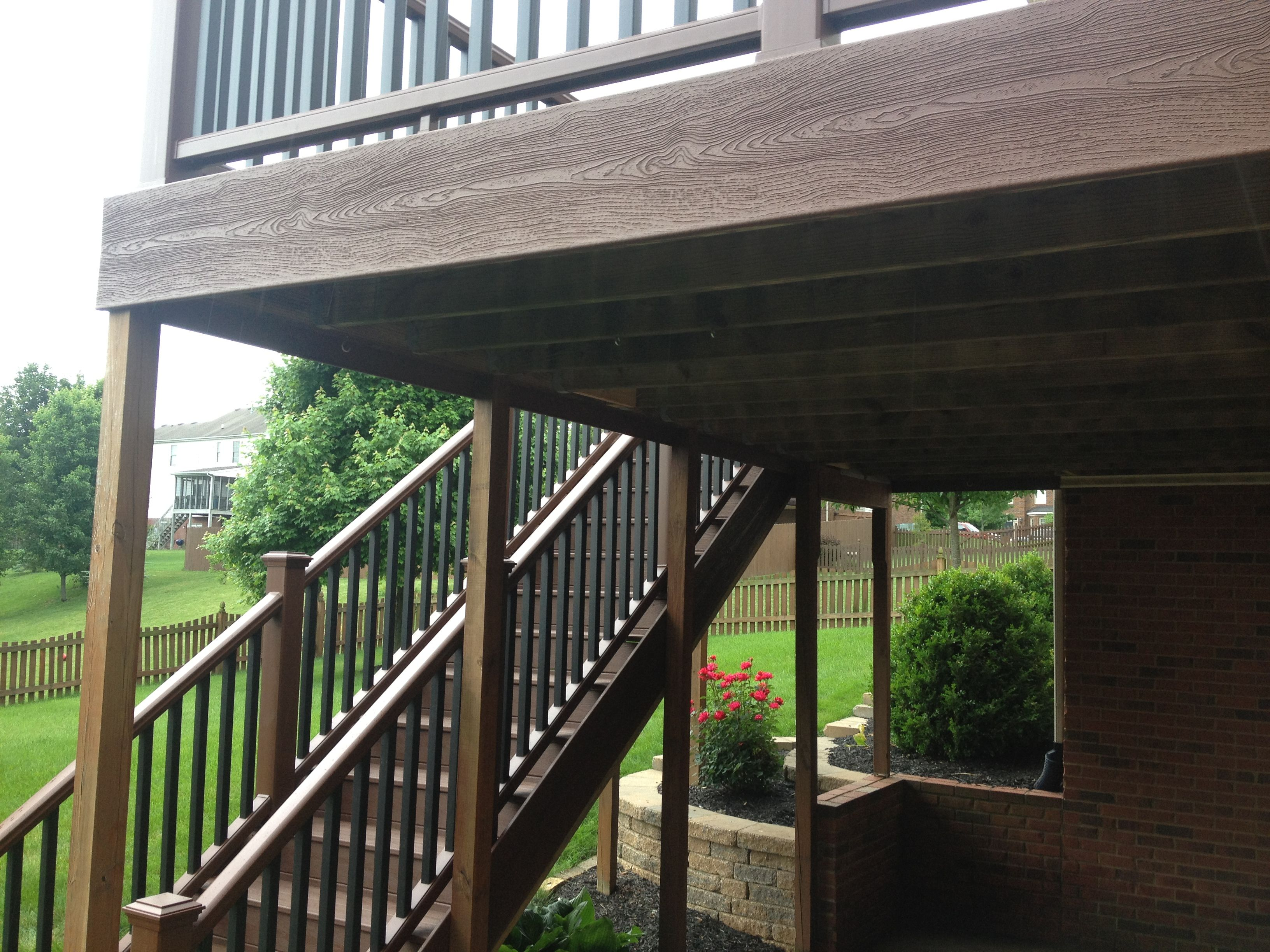 Trex Transcends Deck And Stairs Deck Fire Pit Deck House Colors