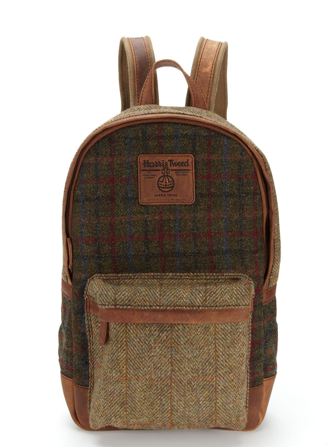 Harris Tweed Mixed Rucksack Bag by The British Belt Company at ...